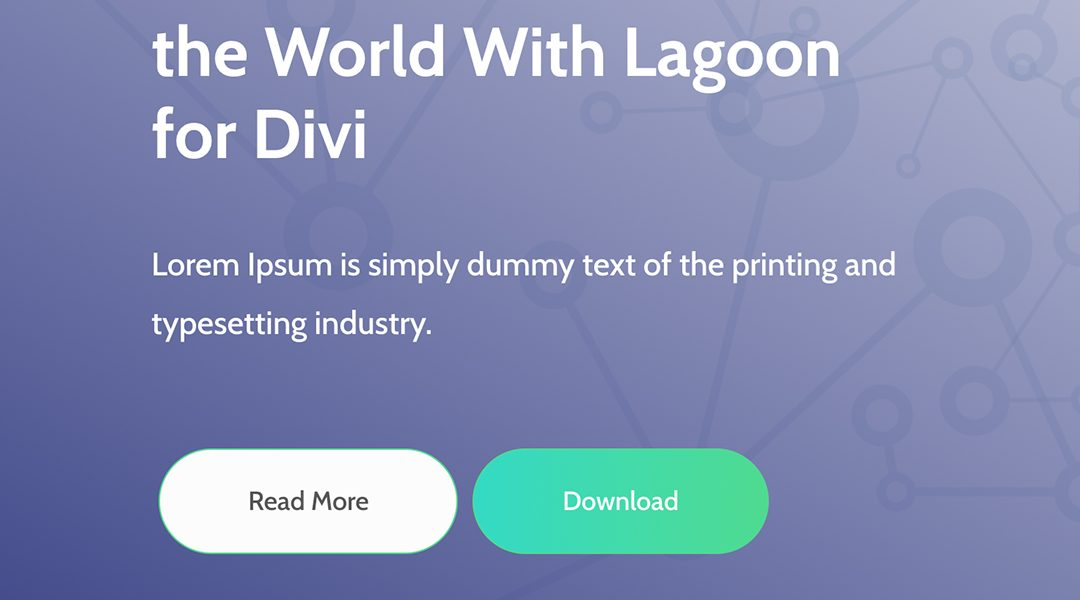 How to place two buttons next to each other in Divi